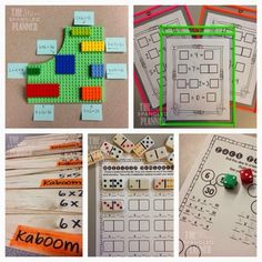 10 MULTIPLICATION CENTER IDEAS + a {FREEBIE} We all know how tricky it can be to get kids to practice their multiplication facts... Here are some great ideas to help you out!
