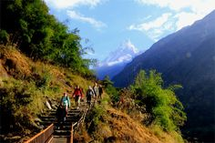 A trek with fun in the Himalayas