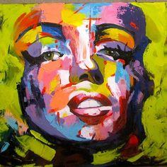 Marlin Monroe available at the vintage store in zamalek  #marlinmonroe #art #artist #artwork #abstract #painting #portrait #art_empire #art_help #art_spotlight #acrylic #acrylicpainting #francoiseniellyart #francoisenielly #egyptart #egyptartist #colorful #paletteknife #paletteknifepainting #egypt #vintage