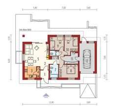 DOM.PL™ - Projekt domu ACX Mini 1 G1 CE - DOM UF1-01 - gotowy koszt budowy O 8, House Plans, Floor Plans, House Design, How To Plan, Houses, Space, Interior, Blueprints For Homes