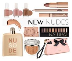 """""""AllNew"""" by crazydita ❤ liked on Polyvore featuring beauty, Forever 21, Essie, NARS Cosmetics, Christian Dior, Victoria's Secret, COSTUME NATIONAL and newnudes"""
