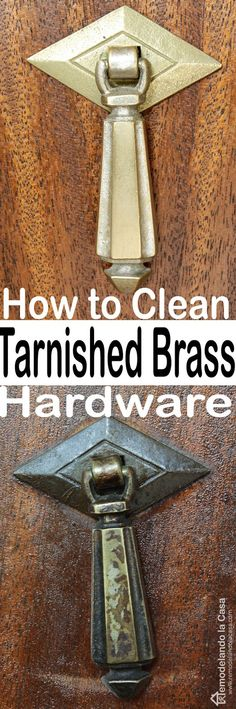 my method for cleaning brass furniture hardware is very simple see how well it works i used it. Black Bedroom Furniture Sets. Home Design Ideas