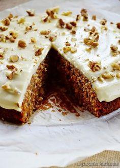 Ciasto marchewkowe (bezglutenowe) | Wyzwania Kuchenne Eat Happy, My Dessert, Gluten Free Cakes, Vegan Cake, Healthy Baking, Healthy Food, Let Them Eat Cake, Cake Recipes, Deserts