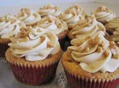 Praline Cupcakes. These could be good but then again maybe I should just stick to my Praline Cheesecake bites :)