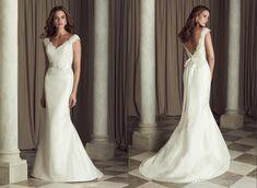 2018 Backless Cap Sleeve Wedding Dress - Cute Dresses for A Wedding Check more at http://svesty.com/backless-cap-sleeve-wedding-dress/