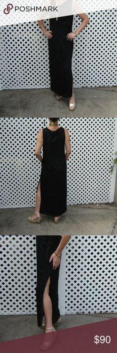 4838d5694 VTG Louis Feraud Contraire Silk Beaded Gown Sz 12 Beautiful and rare vintage  Louis Feraud Contraire