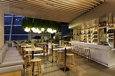 """The typical regional fare so popular not just with Bavarians dominates the menu of Munich restaurant """"Bavarie"""". Typically, the design uses a great amount of wood for partitions, flooring and furniture."""