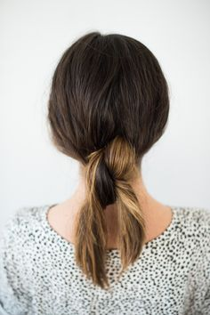 Hair Tutorial   The Double Knotted Pony