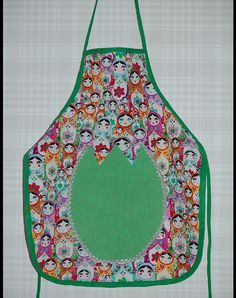 sweet handmade matryoshka pinafore for children - see more on Dawanda.com - Nostalgie & Nähkästchen