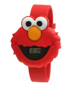 Take a look at this Red Elmo Face LCD Watch by Sesame Street on #zulily today!