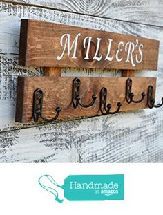 Personalized coat rack your choice of color combination rustic entry way organizer 5 hooks wall mounted storage from Reclaimed Oregon http://www.amazon.com/dp/B01CK47ZZG/ref=hnd_sw_r_pi_dp_udDqxb13ZBRZ6 #handmadeatamazon