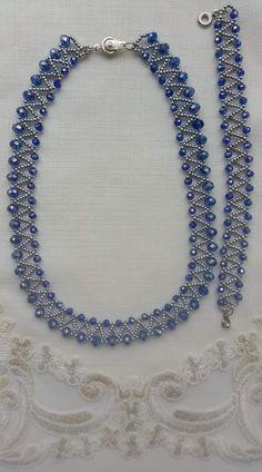 Free pattern for necklace Taya – - DIY Schmuck Bead Jewellery, Seed Bead Jewelry, Diy Jewelry, Jewelry Sets, Seed Beads, Handmade Jewelry, Jewelry Necklaces, Beaded Necklace Patterns, Bracelet Patterns