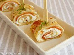 Sencillamente delicioso... si os gustan las crêpes y os gusta el salmón ahumado no dudéis en probarlo, un bocado que se puede preparar ...