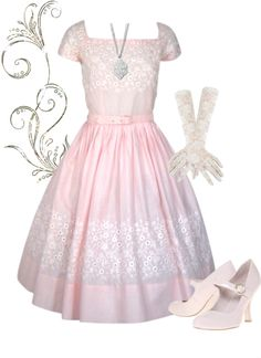 """""""Vintage Pink"""" by modestlystylish ❤ liked on Polyvore"""