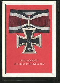 old postcard: AK Ritterkreuz des Eisernen Kreuzes 1939
