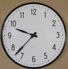 Wall clock by Arne Jacobsen. Arne Jacobsen, Clock, Interior Design, Wall, Ideas, Home Decor, Watch, Nest Design, Decoration Home