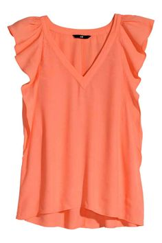 Blouse with Butterfly Sleeves Blouse Orange, Fat Fashion, T Shirts For Women, Clothes For Women, Work Attire, Spring Summer Fashion, Shirt Style, Summer Outfits, Sleeves