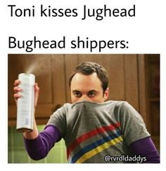 Honestly though I don't hate Toni like the rest of the Bughead shippers, and I SHIP BUGHEAD TO THE EXTREMITIES