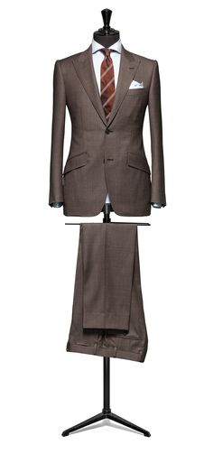 Brown suit Birdseye S130 http://www.tailormadelondon.com/shop/tailored-suit-fabric-4364-birdseye-brown/