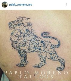 Leo constellation lion tat