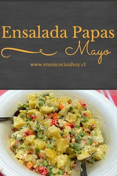 Ensalada de papas mayo a la antigua, receta chilena - Spill Tutorial and Ideas Healthy Fridge, Healthy Meal Prep, Healthy Recipes, Potato Recipes, Vegetable Recipes, Ensalada Rusa Recipe, Chilean Recipes, Chilean Food, Latin American Food