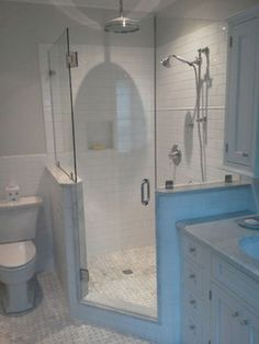 Efficient small bathroom shower remodel ideas (6) #smallbathroomremodeling