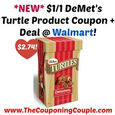 AWESOME COUPON!!! GREAT STOCKING STUFFER IDEA!!! *NEW* $1/1 DeMet's Turtle Product Coupon + Deal @ Walmart!  Click the link below to get all of the details ► http://www.thecouponingcouple.com/new-11-demets-turtle-product-coupon-deal-walmart/ #Coupons #Couponing #CouponCommunity  Visit us at http://www.thecouponingcouple.com for more great posts!