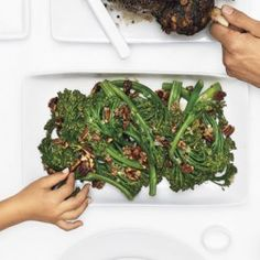 Broccolini with Pecan Brown Butter Recipe - Bon Appétit