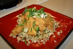 West African Chicken: Chicken in a nutty tomato sauce - can use either peanut butter or almond butter.