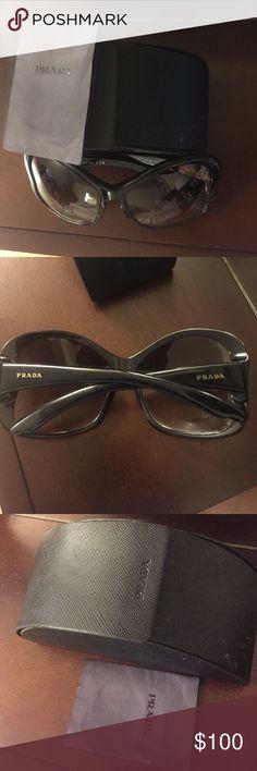 Prada Glasses Prada sun Glasses 😎 in great condition comes in original box does not include cloth Prada Accessories Glasses