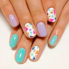 Cool Pastel Nail Designs  #pastelnails