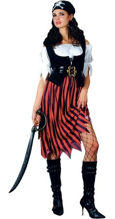 Buy this Ladies Pirate Lady Fancy Dress Costume by Wicked for only £19.99 at Magic Box Fancy Dress in Pirate - Popular Themes - Adult Costumes.