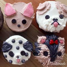 "These cute cupcakes will turn a ""ruff"" day into a ""paw-some"" one!"