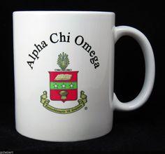 Alpha Chi Omega, ΑΧΩ, Crest Coffee Mug NEW