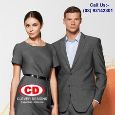 Are you searching corporate uniforms online? You are on right place. You can visit our website and see many options. You can choose and order online directly. We will deliver at your place. Quality of our uniforms is best. Product will be same as you can see online. Corporate Uniforms, Corporate Wear, Clever Design, Cool Designs, Hi Vis Workwear, Office Uniform, Business Requirements, Uniform Design, Exclusive Collection
