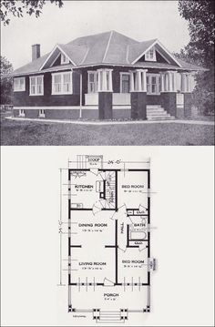 1916 One Story Bungalow No less than THREE porchesand a Music