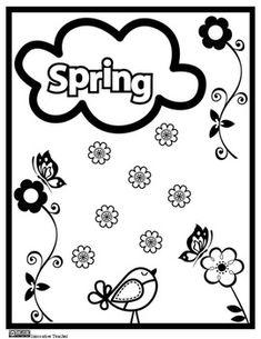Spring Coloring Page {FREEBIE}