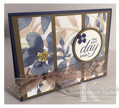 "Day in an English Garden Best Day in an English Garden is made with Stampin' Up's ""Birthday Blossoms"" stamp set.Best Day in an English Garden is made with Stampin' Up's ""Birthday Blossoms"" stamp set. Wedding Shower Cards, Birthday Wishes Cards, Cards For Friends, Pretty Cards, Watercolor Cards, Paper Cards, Flower Cards, Greeting Cards Handmade, Stampin Up Cards"