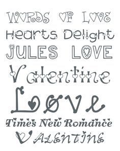 Valentine's Day font from Alderberry Hill