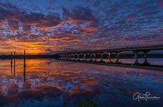 Thūncher Photography posted a photo:  Sunrise this morning over the Indian Street Bridge was one for the highlight reel.  Location: Palm City, Florida  For daily photos, updates and musings on all things photography - please like my Facebook page via the link below.  www.facebook.com/thuncherphotography  You can also visit my website at:  www.thuncherphotography.com  -30-  © All rights reserved. Please do not use or repost - words and images, intellectual property of Florida Life / Thūncher