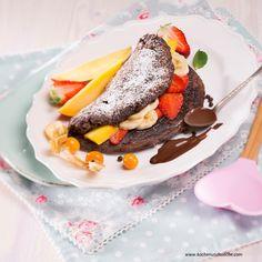 Schokoladenomelett » Kochrezepte von Kochen & Küche Burritos, Grapefruit, Eggs, Breakfast, Desserts, Food, Omelette, Pancakes, Recipes With Eggs