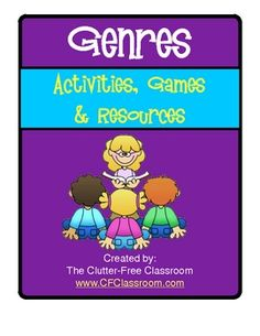 GENRE POSTERS AND ACTIVITIES KIT featuring Thistlegirl Designs Clipart. There are 43 pages in this kit. This product includes several printables to help students understand genres in literature. They are best used with grades 2-6.