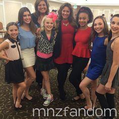 Mackenzie Ziegler, Kalani Hilliker, Jojo Siwa, Nia Frazier, Maddie Ziegler and Kendall Vertes with Dallas Lovato (Demi Lovato's sister).