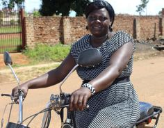 A lady riding a motor bike is seen as not being normal because it is believed only men should ride a motor bike