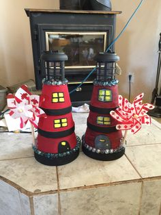 My new lighthouses for the lake.
