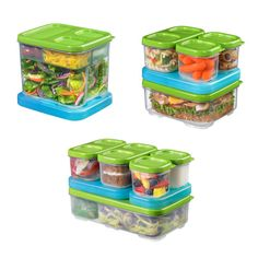 Rubbermaid LunchBlox: Check out these Rubbermaid LunchBlox containers. Theres a Salad Kit ($13), a Sandwich Kit ($13), and an Entrée Kit ($19) — all include a reusable blue icepack.