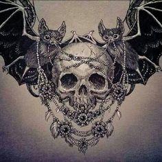#skull #bat