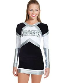 Inferno Metallic Hight Performance Cheerleader Uniform Top