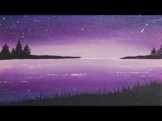 Acrylic Silhouette Painting - Dawn Cove