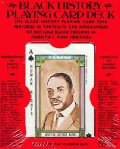 Black history playing card deck [game]